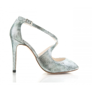 Bijou Lucie - Silver Leather Strappy Sandal