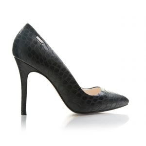 Bijou Margot - Leather Croc Court Shoe