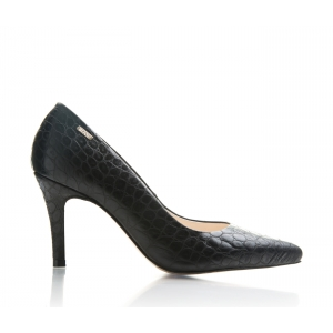Bijou Joy - Leather Croc Court Shoe