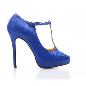 SAMPLE SALE - Bijou Gabrielle -  Snake 'T' Bar Platform Open Toe Shoe