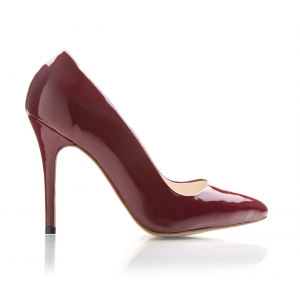 Bijou Margot - Burgundy Patent Court Shoe