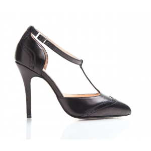 Bijou Marion - Leather 'T' Bar Court Shoe